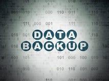 Concetto di informazioni: Backup dei dati sulla carta di Digital Fotografie Stock Libere da Diritti