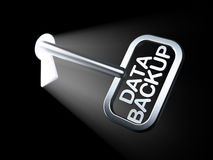 Concetto di informazioni: Backup dei dati sulla chiave Immagini Stock