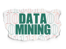 Concetto di informazioni: Data mining su carta lacerata Fotografia Stock