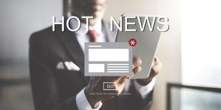 Concetto di informazioni dell'aggiornamento di annuncio del bollettino di notizie fotografie stock libere da diritti