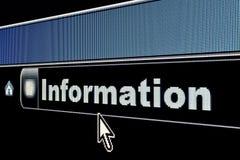 Concetto di informazioni di Internet fotografia stock libera da diritti