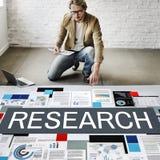 Concetto di informazioni di risposte di fatti di esplorazione di ricerca fotografie stock