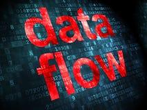Concetto di informazioni: Flusso di dati su fondo digitale Immagini Stock