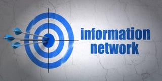 Concetto di informazioni: obiettivo ed informazioni Immagine Stock Libera da Diritti