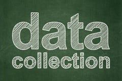 Concetto di informazioni: Raccolta di dati sul fondo della lavagna royalty illustrazione gratis