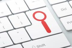 Concetto di informazioni: Ricerca sulla tastiera di computer Immagine Stock Libera da Diritti