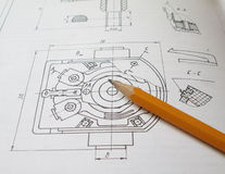 Concetto di ingegneria Immagini Stock
