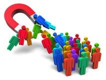 Concetto di ingegneria sociale Immagine Stock