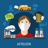 Concetto di inquinamento atmosferico illustrazione di stock