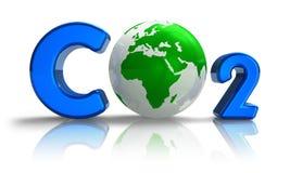 Concetto di inquinamento atmosferico: Formula del CO2 immagini stock libere da diritti