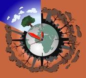 Concetto di inquinamento di ecologia sul pianeta Terra Fotografie Stock Libere da Diritti