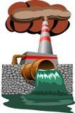 Concetto di inquinamento di ecologia sul pianeta Terra Immagini Stock