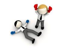 concetto di inscatolamento 3d per rivalità di affari. Immagini Stock