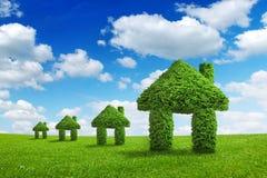 Concetto di integrazione della casa di verde della natura di ecologia dell'ambiente Immagini Stock Libere da Diritti
