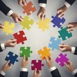 Concetto di integrazione e di lavoro di squadra Immagini Stock Libere da Diritti