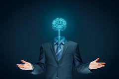 Concetto di intelligenza artificiale Immagine Stock