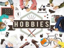 Concetto di interesse di Freetime di divertimento di attività di hobby fotografia stock