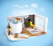 Concetto di interior design Fotografia Stock Libera da Diritti