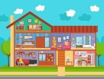 Concetto di interior design della casa di famiglia Immagine Stock Libera da Diritti
