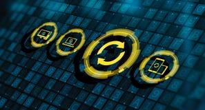 Concetto di Internet di aggiornamento di programma del software dell'aggiornamento fotografia stock