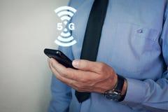 concetto di Internet 5G e della rete Internet Immagini Stock Libere da Diritti
