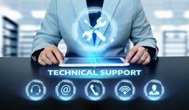Concetto di Internet di tecnologia di affari di servizio di assistenza al cliente del supporto tecnico fotografia stock libera da diritti