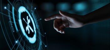 Concetto di Internet di tecnologia di affari di servizio di assistenza al cliente del supporto tecnico fotografie stock libere da diritti