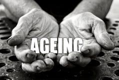 Concetto di invecchiamento fotografia stock