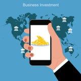 Concetto di investimento aziendale di finanza, illustrazione di vettore Fotografia Stock Libera da Diritti