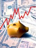 Concetto di investimento di banca Piggy Fotografie Stock Libere da Diritti