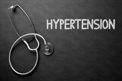 Concetto di ipertensione sulla lavagna illustrazione 3D Fotografie Stock