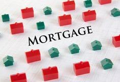Concetto di ipoteca del mercato degli alloggi Immagine Stock