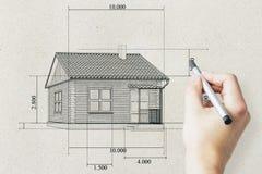 Concetto di ipoteca e del bene immobile Fotografie Stock Libere da Diritti