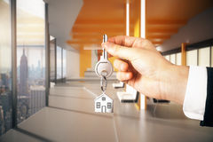 Concetto di ipoteca e del bene immobile Fotografia Stock