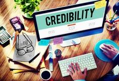 Concetto di ispirazione di determinazione di associazione di credibilità Fotografia Stock