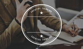 Concetto di ispirazione di immaginazione di progettazione di pensiero creativo Immagine Stock