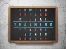 Concetto di istruzione: addestramento di parola nella soluzione Fotografie Stock