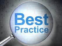 Concetto di istruzione: Best practice con vetro ottico Fotografia Stock Libera da Diritti