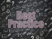 Concetto di istruzione: Best practice sul consiglio scolastico Illustrazione Vettoriale