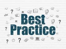 Concetto di istruzione: Best practice sul fondo della parete Illustrazione Vettoriale