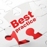 Concetto di istruzione: Best practice sul puzzle Fotografia Stock Libera da Diritti