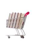 Concetto di istruzione con i libri su bianco Fotografia Stock Libera da Diritti