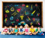 Concetto di istruzione di attività di svago di infanzia dei bambini Fotografia Stock