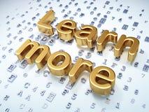 Concetto di istruzione: Dorato impari più su digitale Fotografia Stock