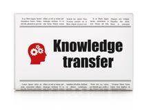 Concetto di istruzione: giornale con conoscenza Fotografia Stock Libera da Diritti
