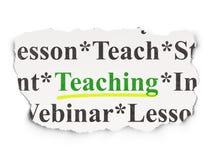 Concetto di istruzione: Insegnamento sul fondo di carta Fotografie Stock Libere da Diritti