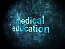 Concetto di istruzione: Istruzione medica su fondo digitale illustrazione di stock