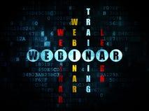 Concetto di istruzione: parola Webinar nella soluzione Immagine Stock
