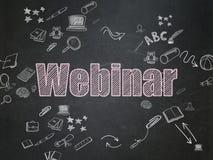 Concetto di istruzione: Webinar sul consiglio scolastico Immagini Stock