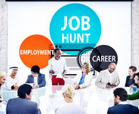 Concetto di Job Hunt Employment Career Recruitment Hiring Fotografia Stock Libera da Diritti